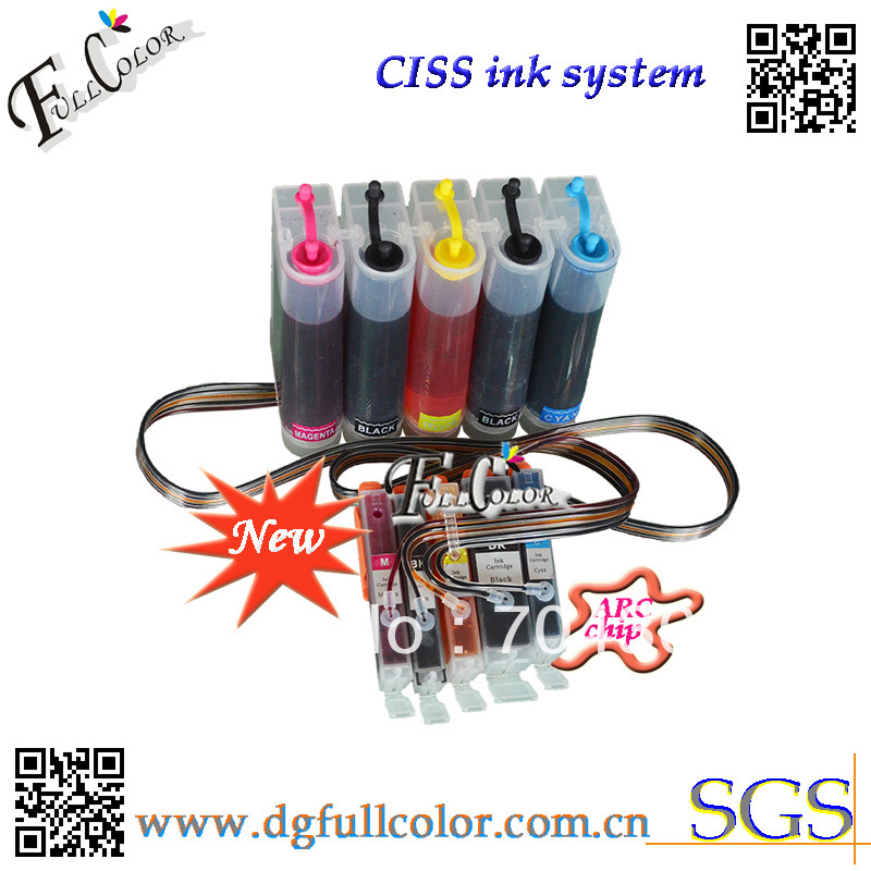 Free shipping new and hot Compatible <font><b>CISS</b></font> 550 551 ink system with ink and ARC chip For <font><b>PIXMA</b></font> <font><b>IP7250</b></font> inkjet printer <font><b>CISS</b></font> image