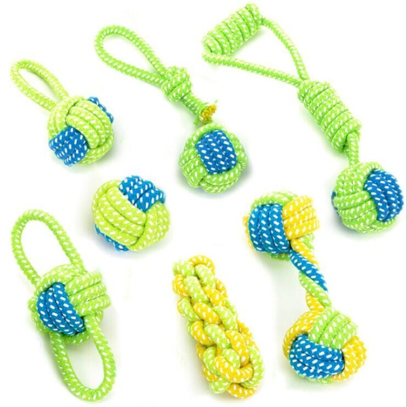 Pet Dog Toys Rope Knot Cotton Molar Tooth Cleaning Chewing Training Game Playing Ball Toys For Small Medium Large Dogs Toy