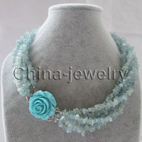 Wholesale price 16new ^^^^Beautiful 18 6row natural chip necklace jaffaite flower GP clasp