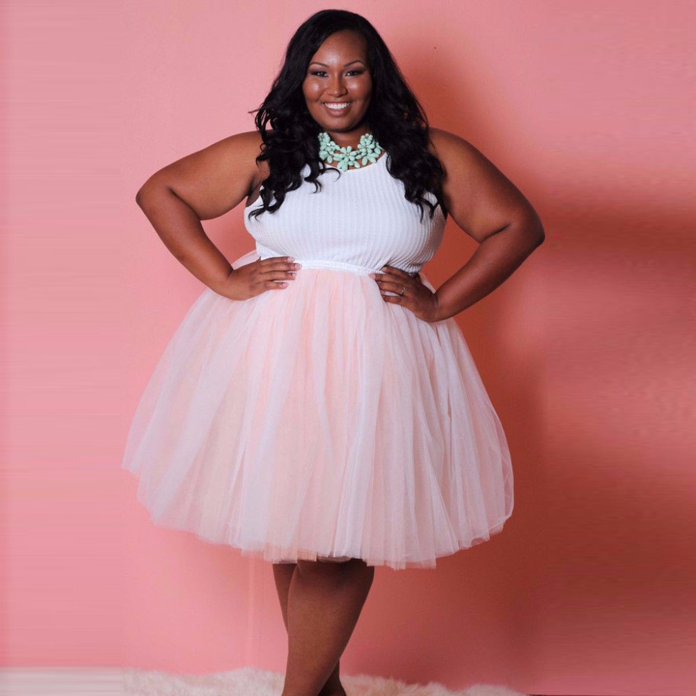 plus size women tutu skirt short 2017 custom made knee length skirt tulle jupe femme bridesmaid. Black Bedroom Furniture Sets. Home Design Ideas
