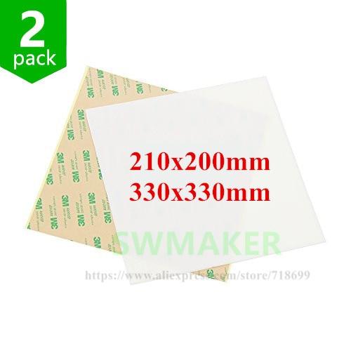 2 pcs 330 330mm 210 200mm folha folha pei pei polieterimida 3d construir superficie de impressao