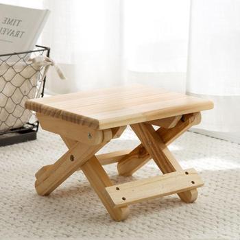 Vanzlife taburete plegable de madera maciza, taburete portátil plegable para tren, taburete organizador para adultos, silla pequeña, Banco plegable