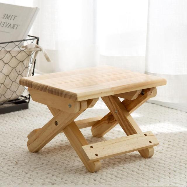 Vanzlife طوي خشب متين كرسي البراز المحمولة قطار طوي البراز الكبار تنظيم كرسي صغير مقعد طويل قابل للطي