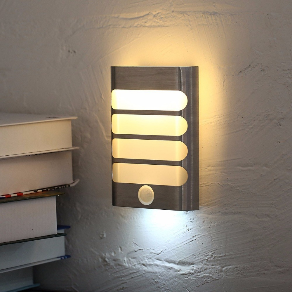 Image 2 - USB Rechargeable Sensor Night Light Wireless PIR Motion Sensor Light Wall Light Lamp Auto On/Off For Hallway Pathway Staircasenight lightrechargeable night lightmotion sensor led -