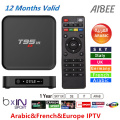 Mejor caliente 1 Año Europa ITALIA Francés Árabe IPTV BOX Quad Core S905x T95M T95M Android 6.0 4 K TV Box 1000 TV En Vivo Canal plus WIFI
