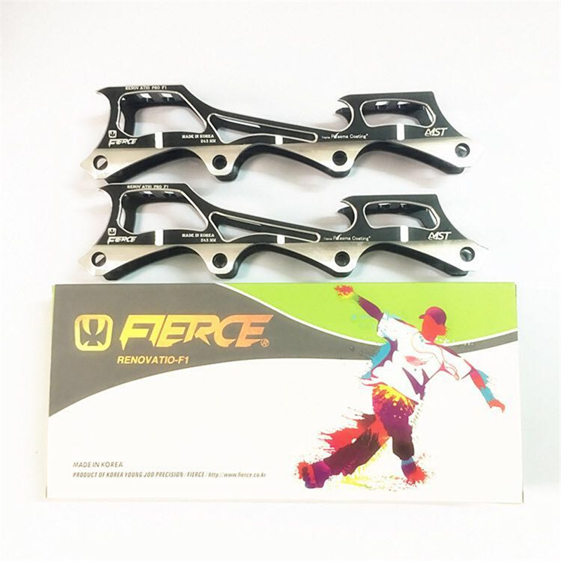 Dual Colors Alloy CNC FIERCE Rockered Skating Frame Banana Inline Skates Base FSK Slalom 243mm 231mm 219mm 72 76 80MM For SEBA