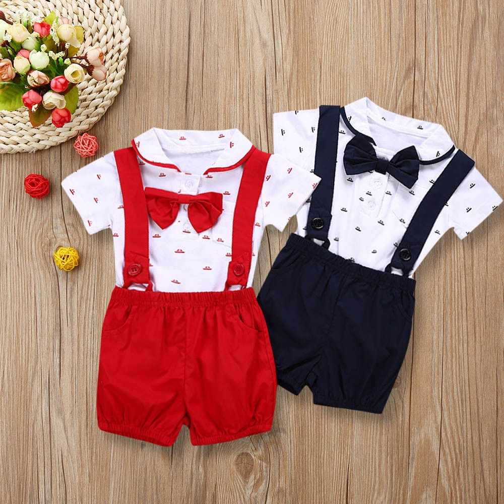 MUQGEW kids clothes boys Baby Boys Clothing Sets Summer Children's T Shirts + Shorts Short Sleeve 2019#P67