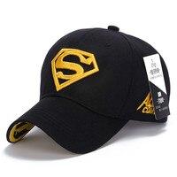 Fashion Spring Autumn Male Baseball Cap Outdoors Superman Embroidery Female Sunhat Sun Block Unisex Peaked Caps