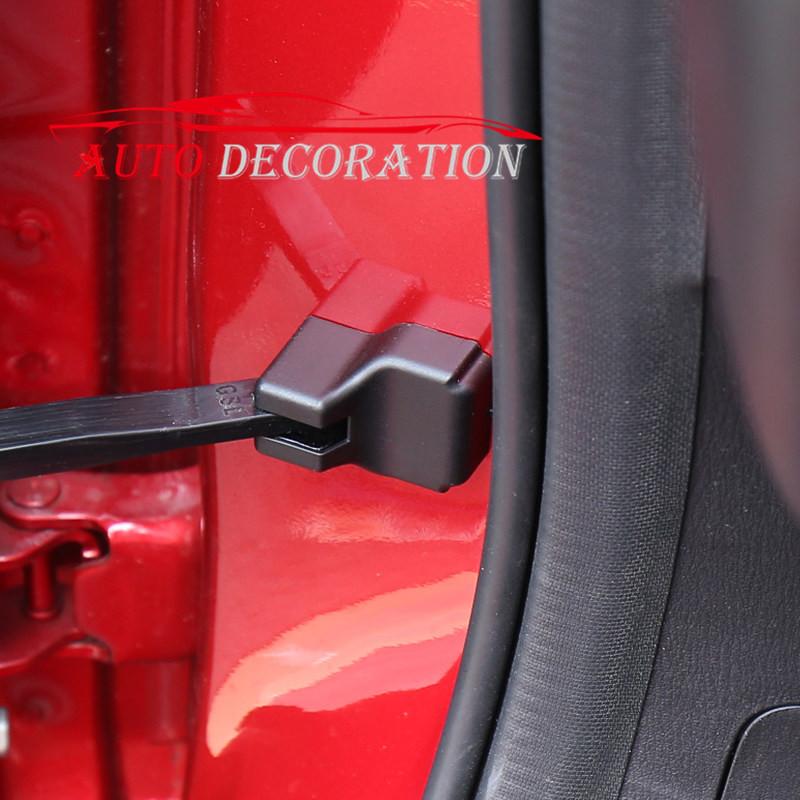 For Mazda CX-5 CX5 2nd Gen 2017 2018 Car styling Black Interior Accessories Door Rust Lock Waterproof Protector Cover 4pcs for mazda cx 5 cx5 2017 2018 2nd gen lhd auto at gear panel stainless steel decoration car covers car stickers car styling
