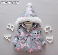 Winter Baby Jackets Hooded Warm Toddler Baby Girls Outerwear Faux Fur Baby Girls Clothing Infant Baby