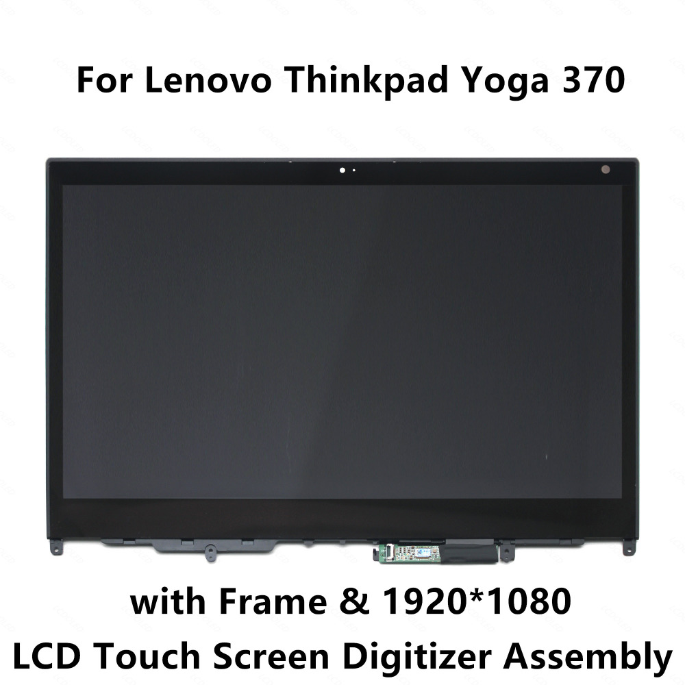 13 3 Touch Screen Glass Digitizer FHD LCD Display Assembly Frame for Lenovo Thinkpad Yoga 370