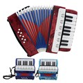 IRIN Professional 17 Key Mini Accordion High Quality Educational Musical Instrument for Both Kids & Adult