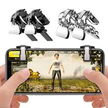 2 шт. для PUBG мобильного геймпад триггер игры огонь кнопки телефона джойстик L1R1 шутер контроллер для IPhone 5S 6 7 X для Xiaomi