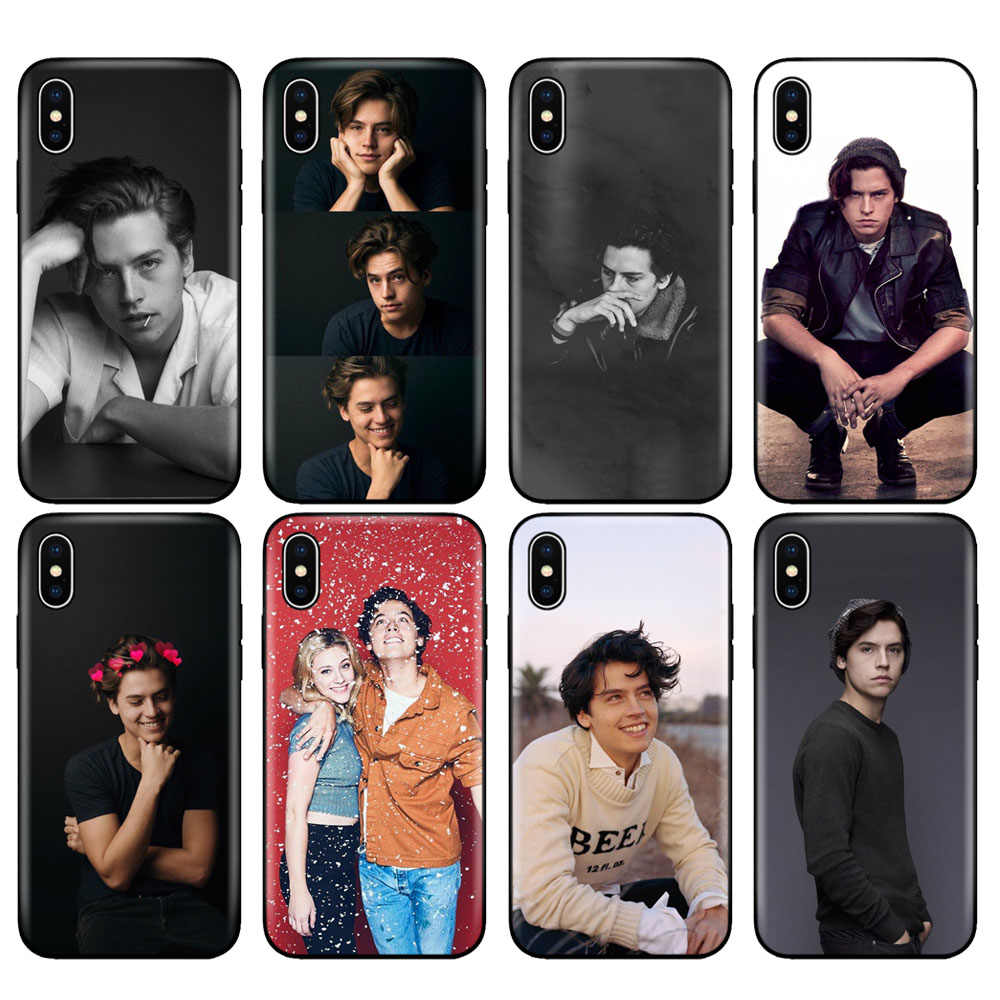 Black tpu case for iphone 5 5s se 6 6s 7 8 plus x 10 case silicone cover for iphone XR XS MAX case Cole Sprouse