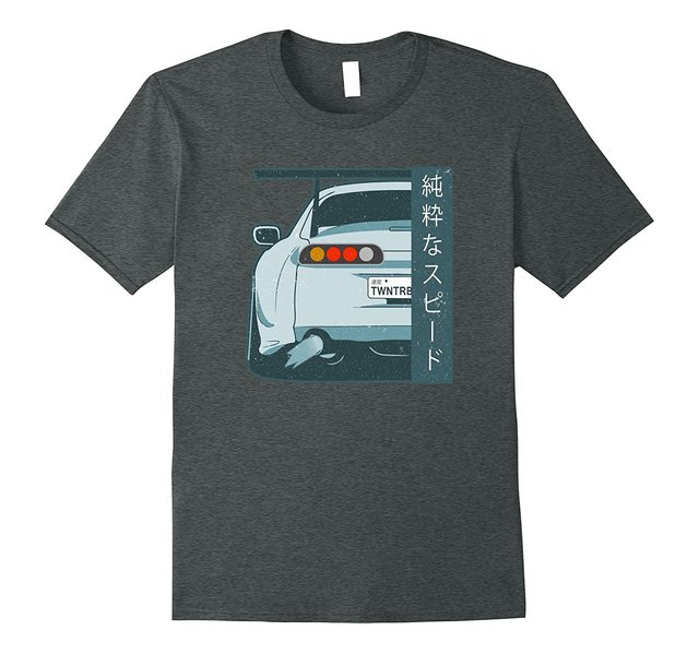 2018 New Cool Tee Shirt Pure Speed Kanji JDM Japanese Street Race GTR 350Z CAR Distressed T Shirt Fashion Cotton T-shirt