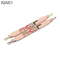 RTATD Strapper You Split Leather Rivet LOVE Letter Design Bags Strap Classic Short Accessories For Bags Belts Chic Handle B024