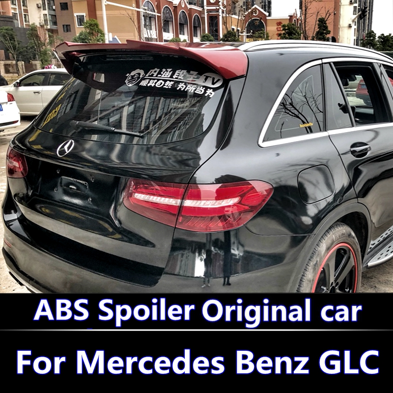 For Mercedes Benz GLC Class GLC300 GLC250 Spoiler 2016-2018 GLC43 GLC260 Spoiler High Quality ABS Car Rear Wing Spoiler chrome rear bumper trunk door sill plate cover for mercedes x205 glc benz glc200 glc250 glc300 2015 2016