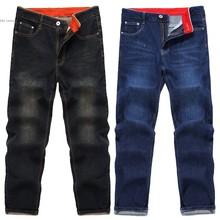 Новый Для мужчин модные Талия Zip Fly 5 карманов Regular Fit Джинсы для женщин деним цвет: черный, синий тонкий прямой промывают Для мужчин S Джинсы для женщин