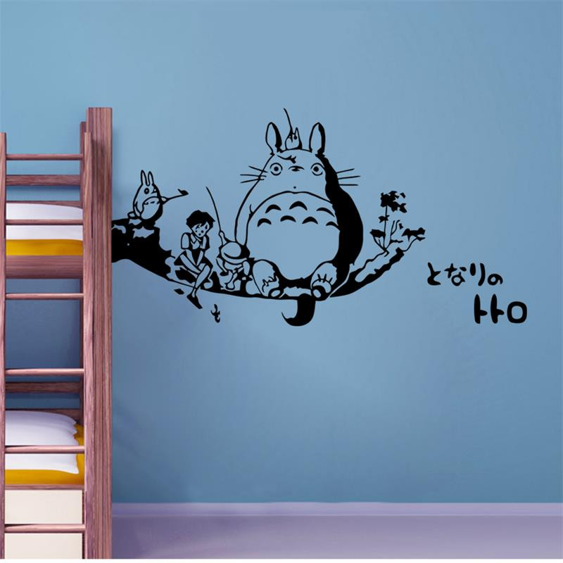 Art Poster New DIY Wall Art Totoro Wall Stickers For Kids Rooms .