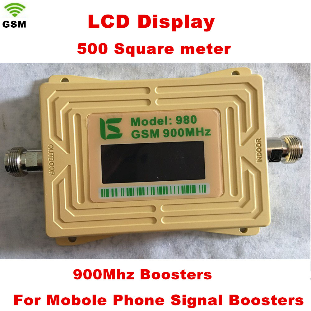 Display GSM980 GSM Mobile Phone 2G Signal Booster GSM Signal Amplifier 900mhz Repeater With 5v Power Adapter Yellow