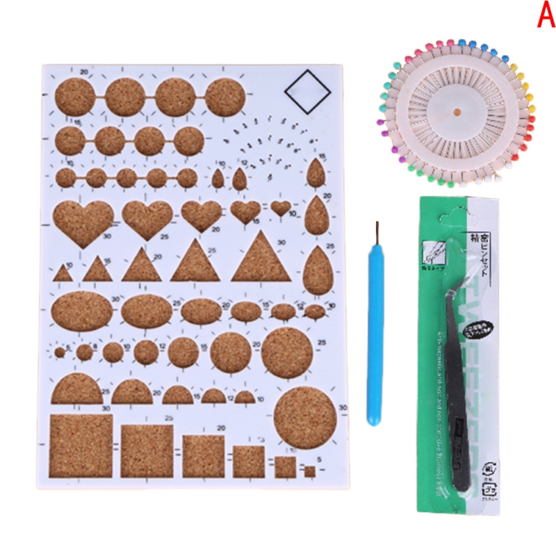 Paper Template DIY Paper Quilling Tools Set Template Mould Board Tweezer Pins Slotted Tool Kit Card Paper Crafts Tool LAW8119