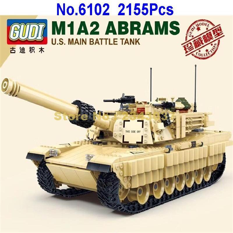 グディ 6102 2155 個軍 m1a2 戦車 ww2 兵士エイブラムス軍戦争ビルディングブロックおもちゃ  グループ上の おもちゃ & ホビー からの ブロック の中 2