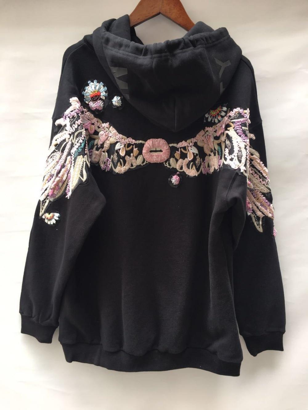100% хлопок хорошее качество Вышивка Пуловеры Топы женские с длинным рукавом Повседневный стиль толстовки Весна Новые модные брендовые пальто gx1674 - 5