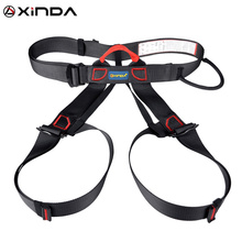 Professional Outdoor Sports Safety Belt Rock Climbing Harness Waist Support Half Body Harness Aerial Survival Equipment professional full body 5 point safety harness seat sitting bust belt rock climbing rescue fall arrest protection gear equipment