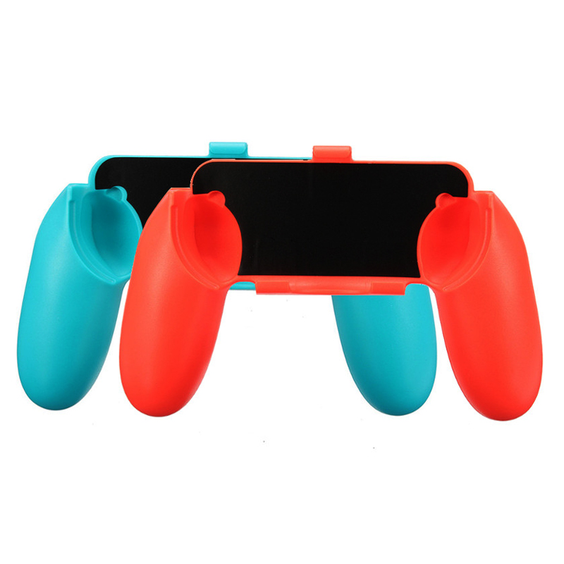 8 in 1 Kit Big Pouch Carrying Box Protective Storage Bag for Nintend Switch Console Case &2 Handgrips&Silicon Cases&Analog Caps 3
