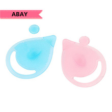 Face Care Tool Popular Nose Blackhead Tool Silicone Clean Deep Wash Brush Teardrop Solid Color Cleansing Brush Utility Easy cheap abay 1pcs FCT020 FOUNDATION Plastic Makeup Brush