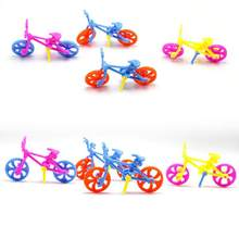 1set DIY Mini Bike Plastic Toys Assembled Bicycle Toy for Kids Children Education Learning Handwork Tools Develop Kids Ability(China)