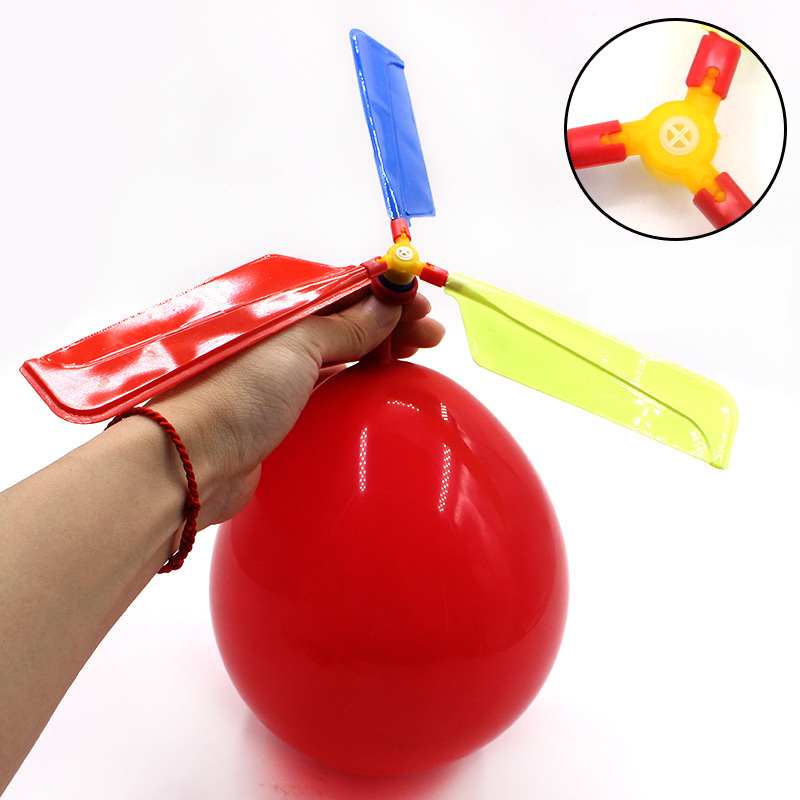 Funny Traditional Classic Sound Balloon Helicopter Kids Children Play Flying Toy Balloon plane Outdoor Toy Xmas Gift image
