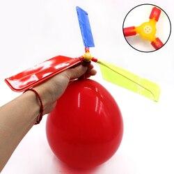 Zabawny tradycyjny klasyczny dźwięk balon helikopter dzieci dzieci bawią się zabawka latająca balon samolot zabawki do zabawy na zewnątrz świąteczny prezent