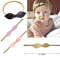 10 pçs/lote Nylon Headbands Bebê Superior Nó Arco de Couro Cabeça nó arcos Headbands Bebê Acessórios Para o Cabelo