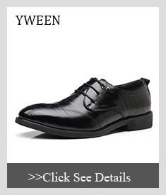 4ed28814e YWEEN الأزياء الرجال أحذية من الجلد الدانتيل يصل الرجال اللباس أحذية الخريف  الشتاء أوكسفورد أحذية للرجال