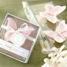 Элегантная розовая свеча в виде бабочки с коробкой для свадьбы X'mas домашний декор подарочные свадебные сувениры и подарки