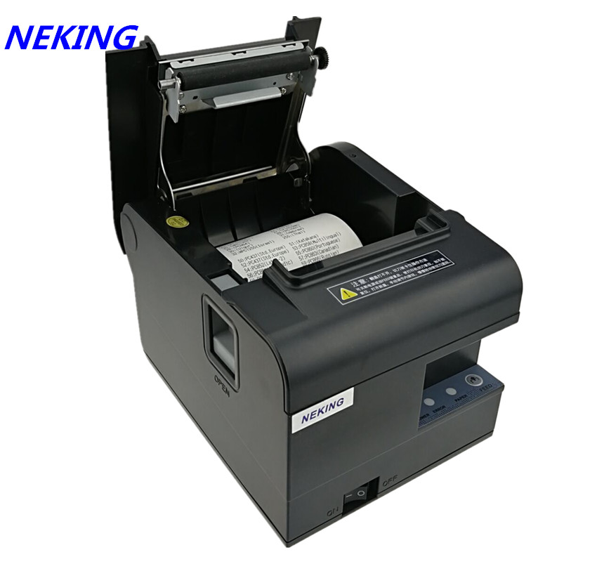 brand new 80mm receipt bill Thermal printer High quality  Small ticket POS printer automatic cutting printing speed Fast lcod t58zu pos58zu thermal receipt printer bill printing machine black