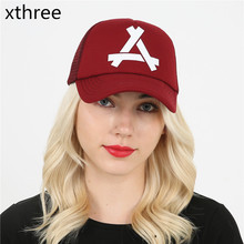 Xthree New summer baseball cap mush cap 5 panels girl snapback hat for men women casual casquette gorras