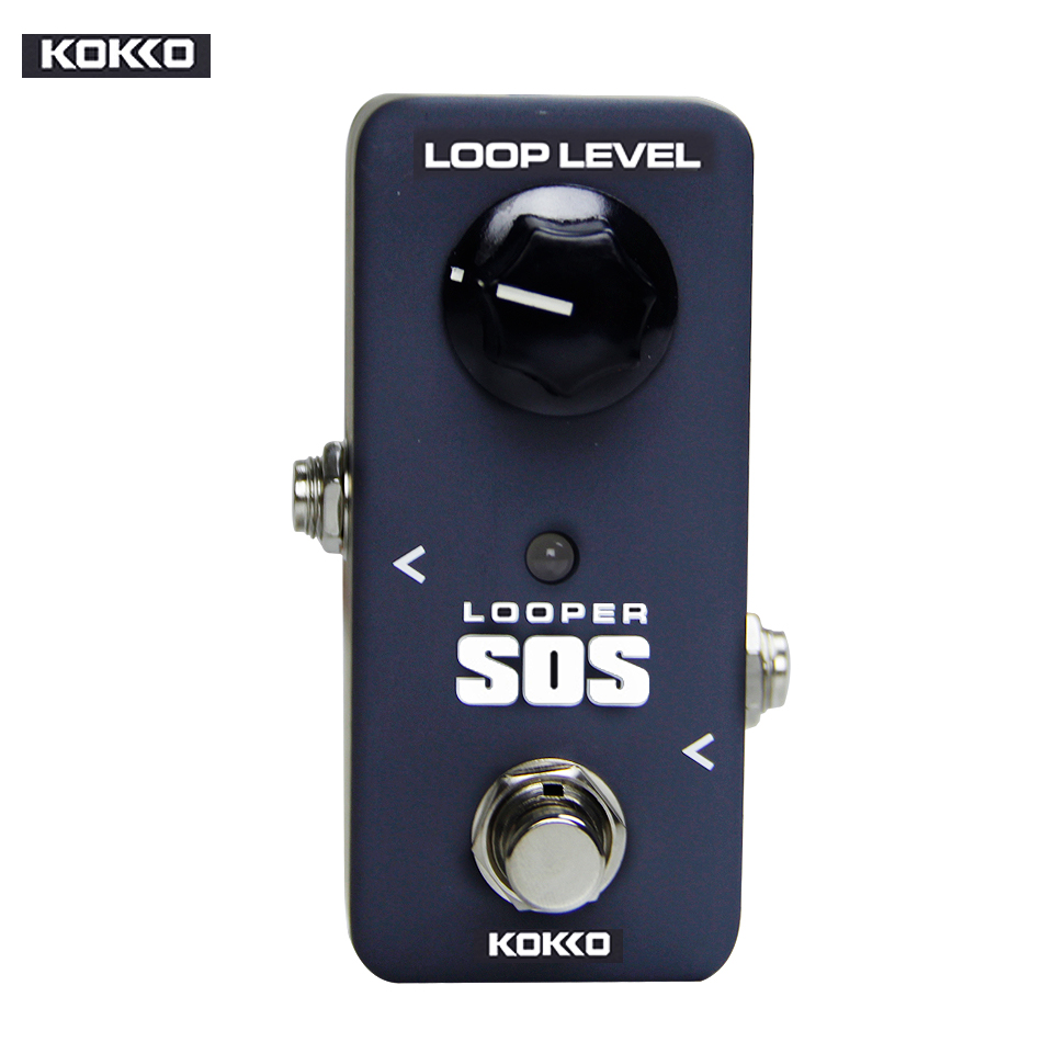 Kokko FLP2 Mini SOS Looper Guitar Effect Pedal/Protable, High Quality Guitar Effect Pedal/Guitar Accessories kokko guitar looper pedal electric guitar looper effect pedal unlimited overdubs 23 minutes recording true bypass
