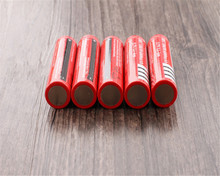 Red 10pcs/lot 18650 Battery Newest Li-ion Rechargeable battery 3.7V for Flashlight Free shippng