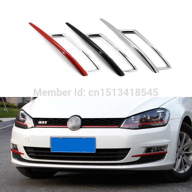 Etiqueta engomada del marco de la decoración del escudo de la cubierta de la lámpara antiniebla delantera del coche para el 2014-2015 Volkswagen VW Golf 7 MK7