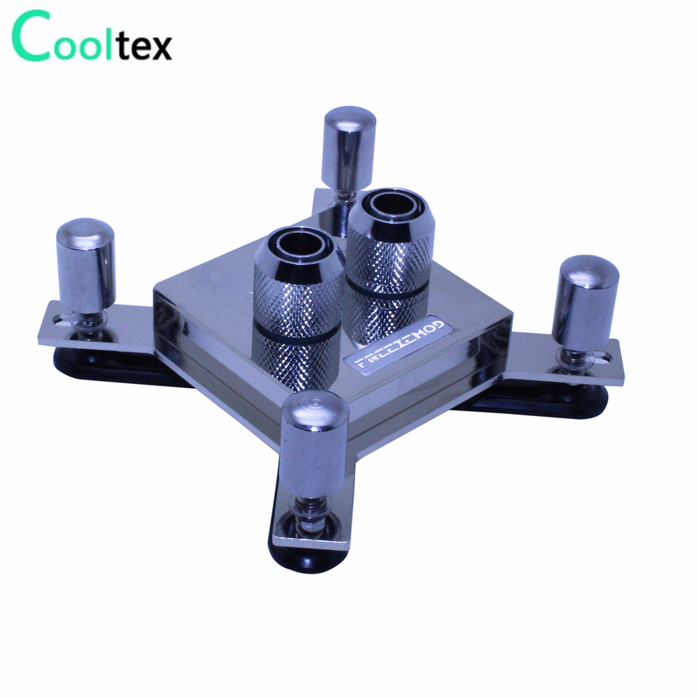High-end CPU Water cooling Waterblock copper water block radiator cooler for computer CPU intel LGA 775/115x/1366/2011 X99 X79 free shipping 53 53 14mm pure copper water cooling block for intel cpu buckle computer copper cpu water block