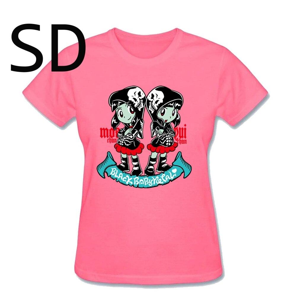 Babymetal Fan Art Design Own T Shirt Rock Metal Band Hip Hop Cotton T-Shirts Printing Girl Womens Hot T-Shirt Women T Shirt