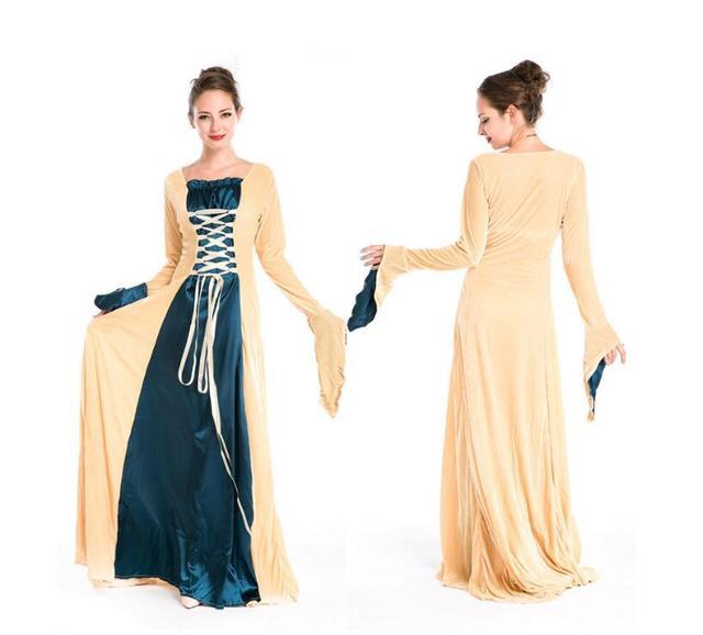 Woman\'s Renaissance Victorian Medieval Long Dresses For Halloween ...