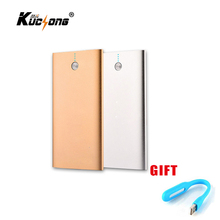 KuChong 12000mah Power Bank External Battery 2 USB Ultra Thin Universal Portable Mobile Charger for Phone Fast Shipping