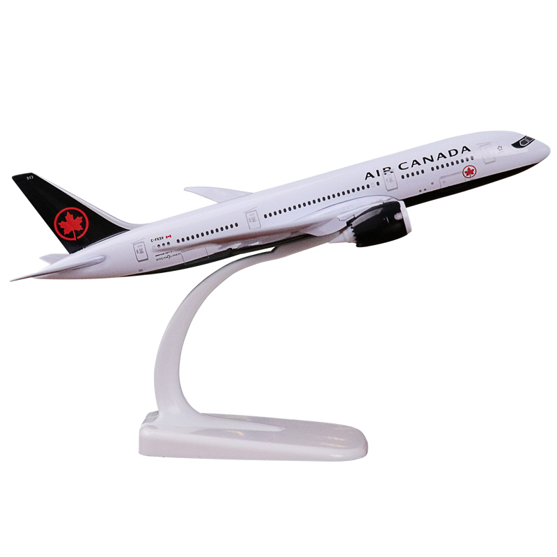 20cm Boeing 787 Plane Model Canadian Airlines Model Air Canada Metal Alloy B787 Aircraft Aviation Airways Airbus Stand Craft