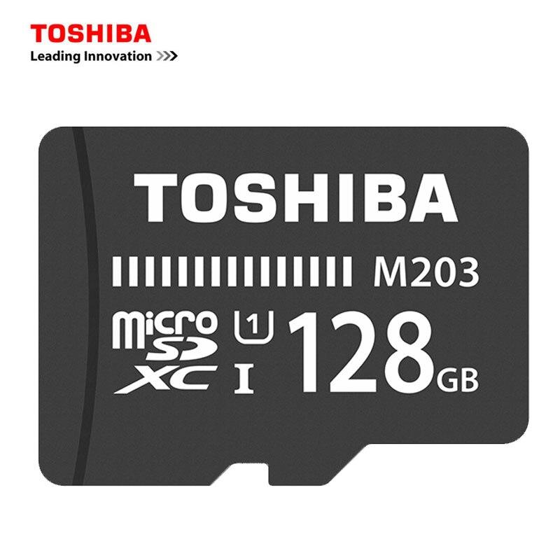 TOSHIBA M203 TF carte microSD carte 128 GB 64 GB 32 GB 16 GB carte mémoire 100 mo/s SDXC/SDHC Class10 UHS-I pour Smartphone tablette