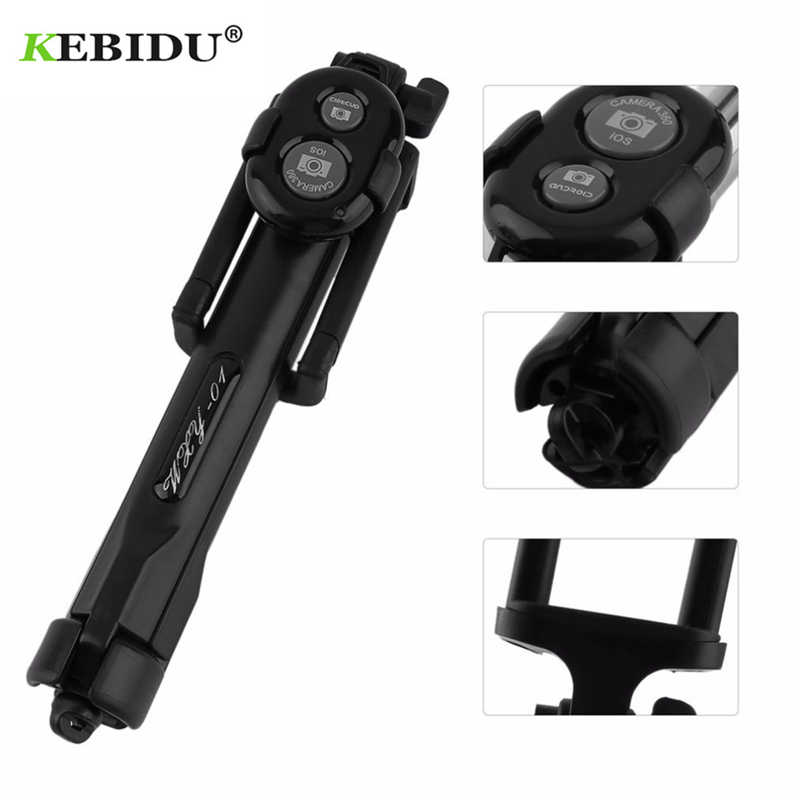 Kebidu Nirkabel Bluetooth Tripod Selfie Stick Monopod untuk IOS Android Phones Desktop Tripod Holder Stand Mini Selfie Stick