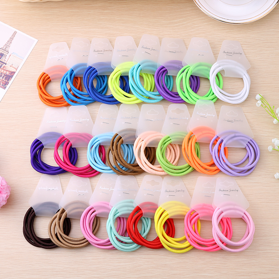 Wholesale 20Pcs Elastic Hair Band Candy Color Headband Flower Solid Kids Hair Ropes Ponytail Holders Hair Accessories for Girls 2015 fashion elastic hair bands for women candy color baby girl kids headbands hair ropes headwear hair accessories 20 colors