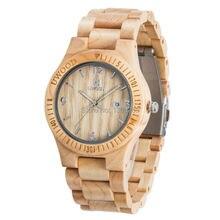 Venta caliente retro de los hombres de madera diario impermeable hombres reloj casual relogio masculino reloj de pulsera masculino